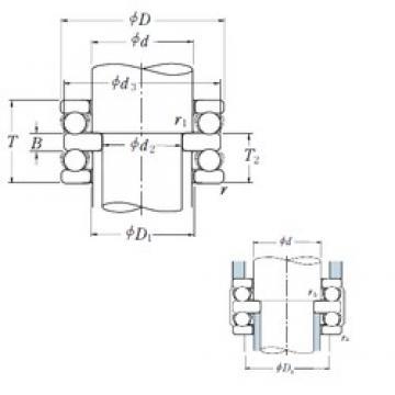 70 mm x 150 mm x 24 mm  NSK 52414 Cojinetes De Bola