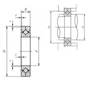 500 mm x 600 mm x 40 mm  IKO CRBC 70045 Rodamientos Axiales De Rodillos