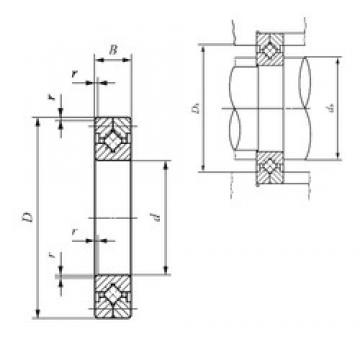 600 mm x 700 mm x 40 mm  IKO CRB 80070 Rodamientos Axiales De Rodillos