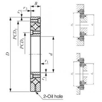 80 mm x 165 mm x 22 mm  IKO CRBF 8022 AD UU Rodamientos Axiales De Rodillos