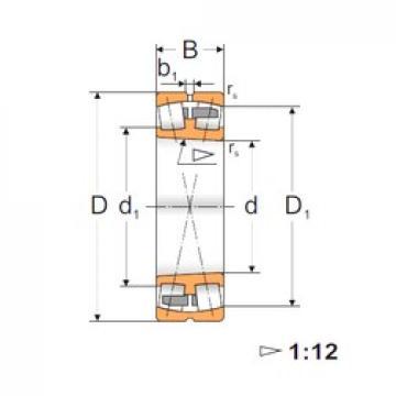 35 mm x 72 mm x 23 mm  FBJ 22207K Rodamientos De Rodillos Esféricos