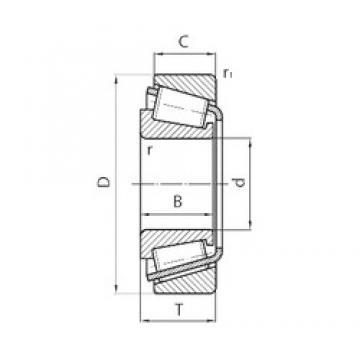 40 mm x 90 mm x 33 mm  CYSD 32308 Rodamientos De Rodillos Cónicos