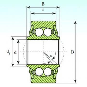 14 mm x 34 mm x 19 mm  ISB GE 14 BBH Rodamientos De Bolas Autoalineables
