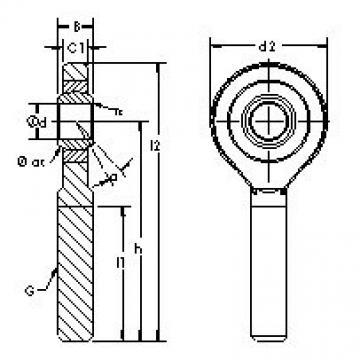 AST SA80ET-2RS Rodamientos Deslizantes