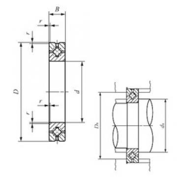 20 mm x 36 mm x 8 mm  IKO CRBH 208 A Rodamientos Axiales De Rodillos