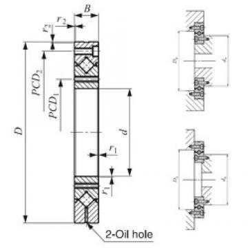80 mm x 165 mm x 22 mm  IKO CRBF 8022 AT Rodamientos Axiales De Rodillos