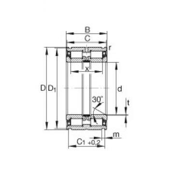 20 mm x 42 mm x 30 mm  INA SL045004-PP Rodamientos De Rodillos