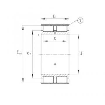INA RSL185009-A Rodamientos De Rodillos