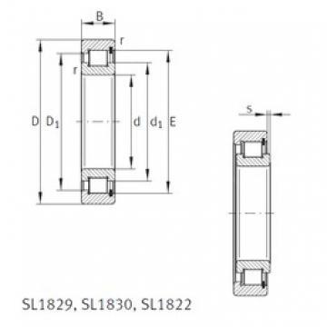 480 mm x 600 mm x 56 mm  INA SL181896-E Rodamientos De Rodillos