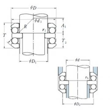 60 mm x 110 mm x 15 mm  NSK 54312 Cojinetes De Bola