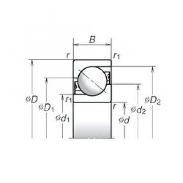 35 mm x 90 mm x 23 mm  NSK TAC35-2T85 Cojinetes De Bola